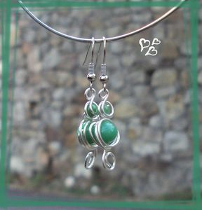 parure grappolo vert jade BO