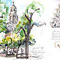 9 Cordoue le jardin des orangers et le Campanile
