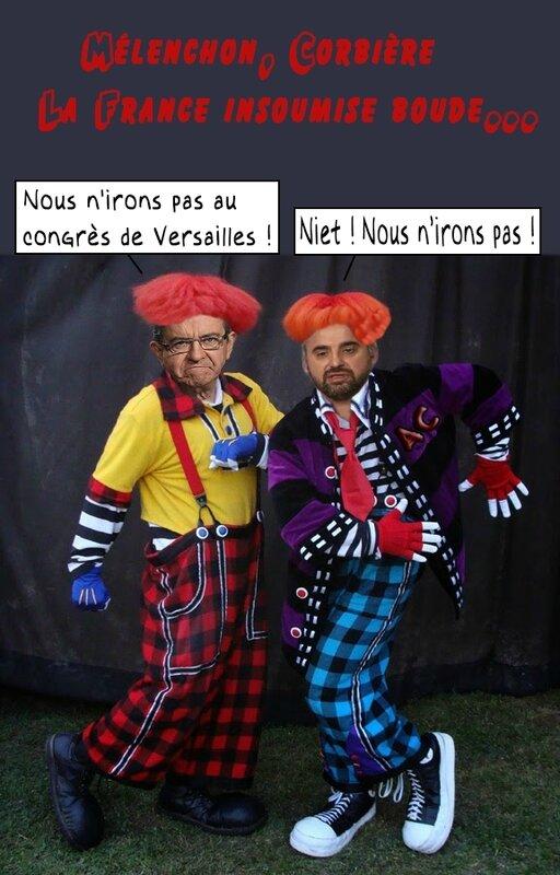 melenchon-corbiere-clowns grotesques-bulles