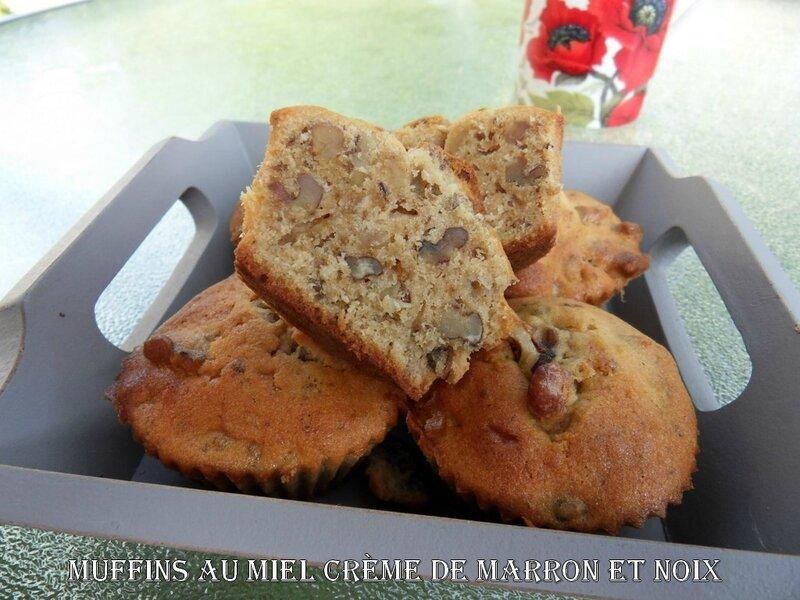 muffins au miel crème de marrons et noix1