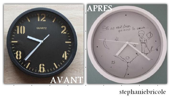 horloge relookée