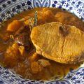 Rôti de porc aux pruneaux et potiron en cocotte: simplissime et délicieux!