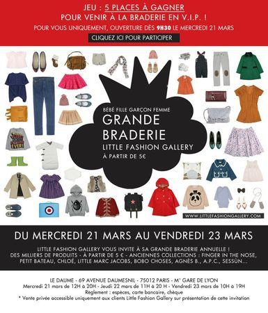 Invitation-Braderie-Little-Fashion Gallery
