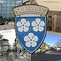 Montages photos ville de saint-priest d'hier et d'aujourd'hui