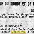 Montocchio Marie Thérèse_Mariage_L'Action Française_22.6.1934
