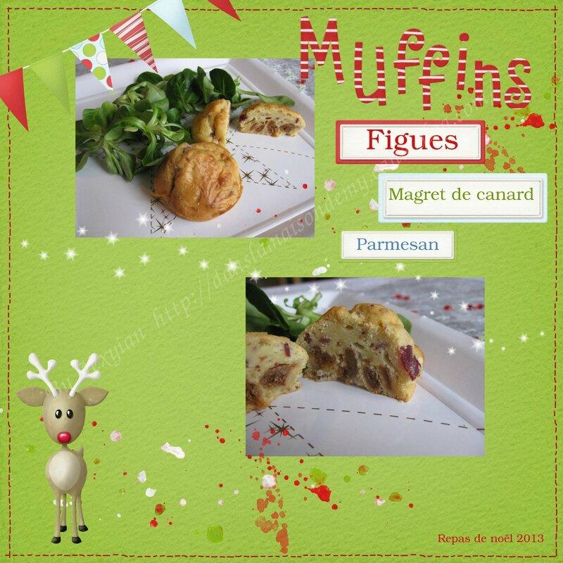 Muffin magret parmesan