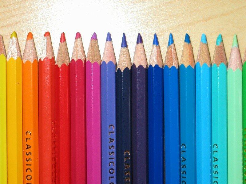 Dégradés de crayons