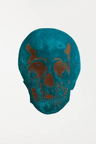 Damien Hirst, The Dead Panama Copper Turquoise Skull , 2009