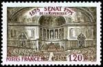 timbre-france-1975-1843-Vue-de-la-grande-salle-des-seances-du-Senat-Palais-du-Luxembourg-a-Paris-pour-le-centenaire-du-Senat-de-la-Republique