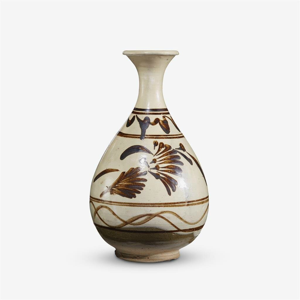 A Chinese 'Cizhou' painted 'floral' vase, yuhuchun, Song-Jin Dynasty