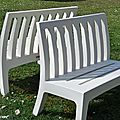 Bancs de jardin en PVC blanc