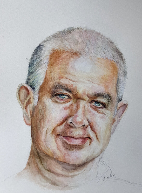 portrait aquarelle homme watercolor portrait valerie albertosi