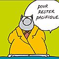 Le chat de geluck -rester pacifique-