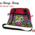 Sac BANG-BANG Retro / Pin Up / cerise et pois bagage week end