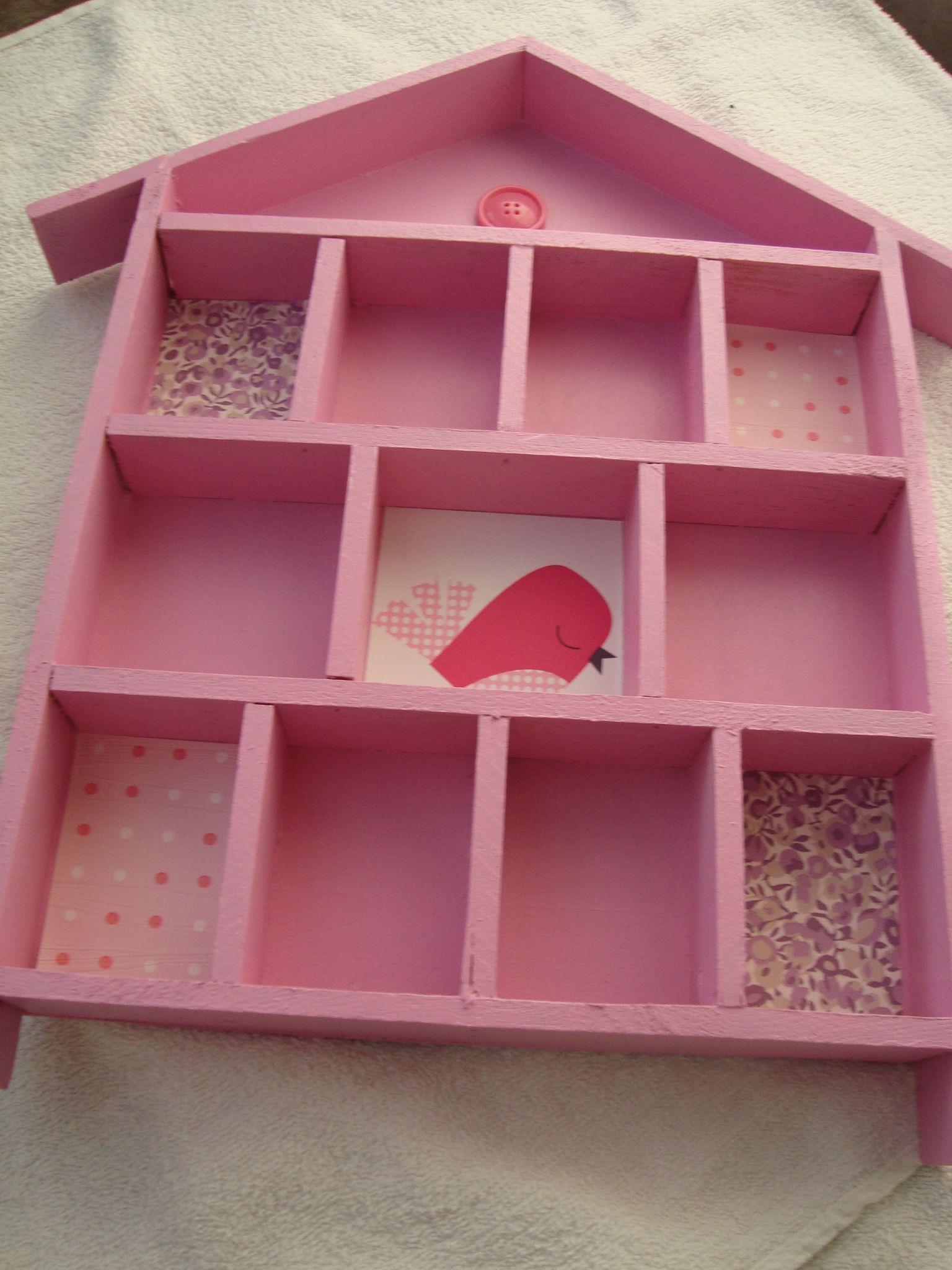 Maison casier rose