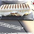 Panini aux œufs brouillés, tomate et mozzarella ( 390 cal/ par personne)