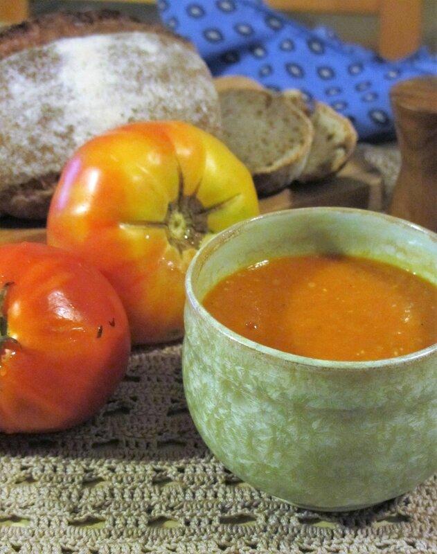 soupe de tomates et lentilles corail kmillesaveurs