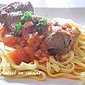 sanglier sauce tomate