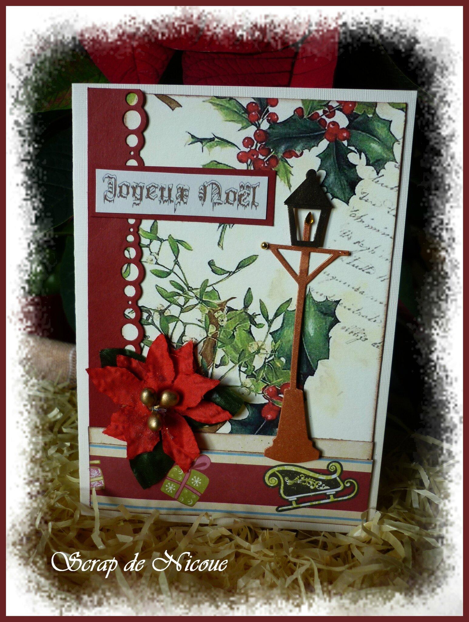 Une carte de Noël dans la pure tradition ...