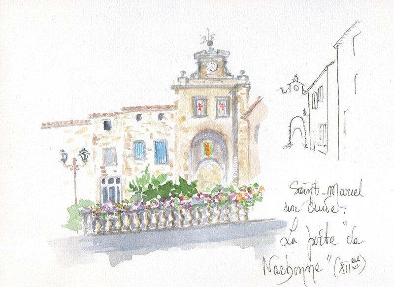 Porte de Narbonne St Marcel sur Aude