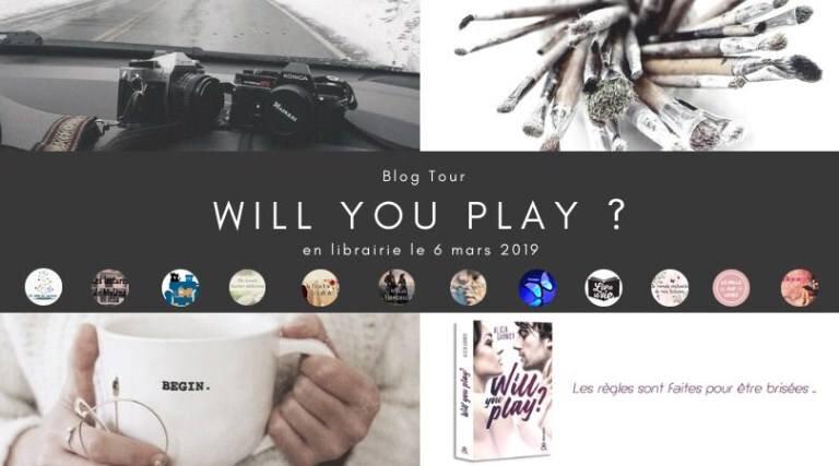 """Blog tour """"Will you play ?"""" de Alicia Garnier"""