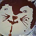 G�teau chat tout chocolat et p�te d'amande d�tail