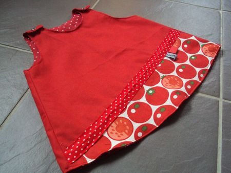 photo robe trapèze rouge et bleue 001