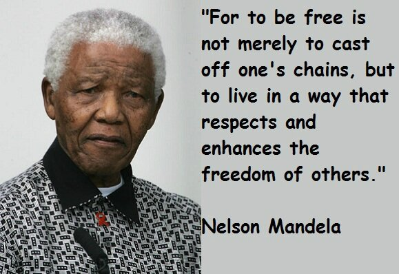 NELSON MANDELA (1918 2013)   JARDIN ANGLAIS