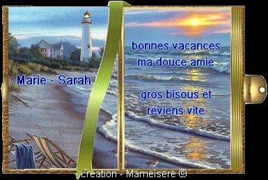 PETIT LIVRE VACANCES MARIE SARAH