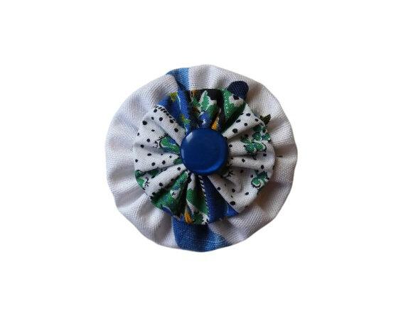 11/08/2019 - Fleur yoyo double ton bleu