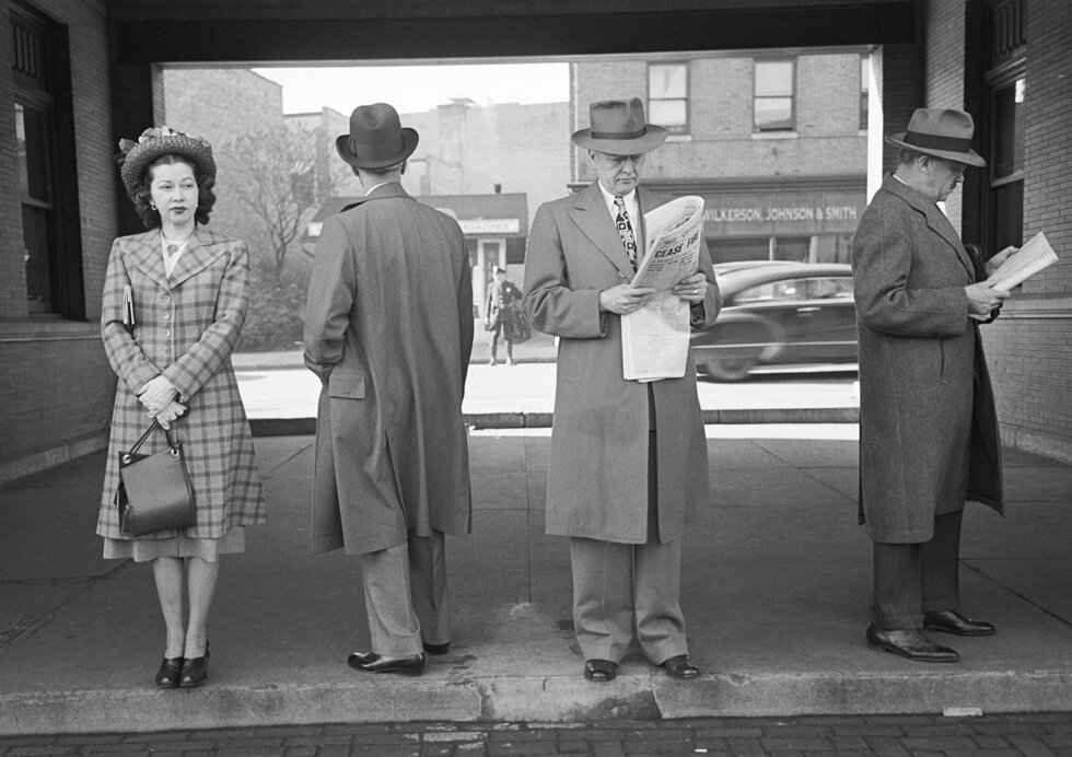 Waiting At The Station, photograph by Esther Bubley