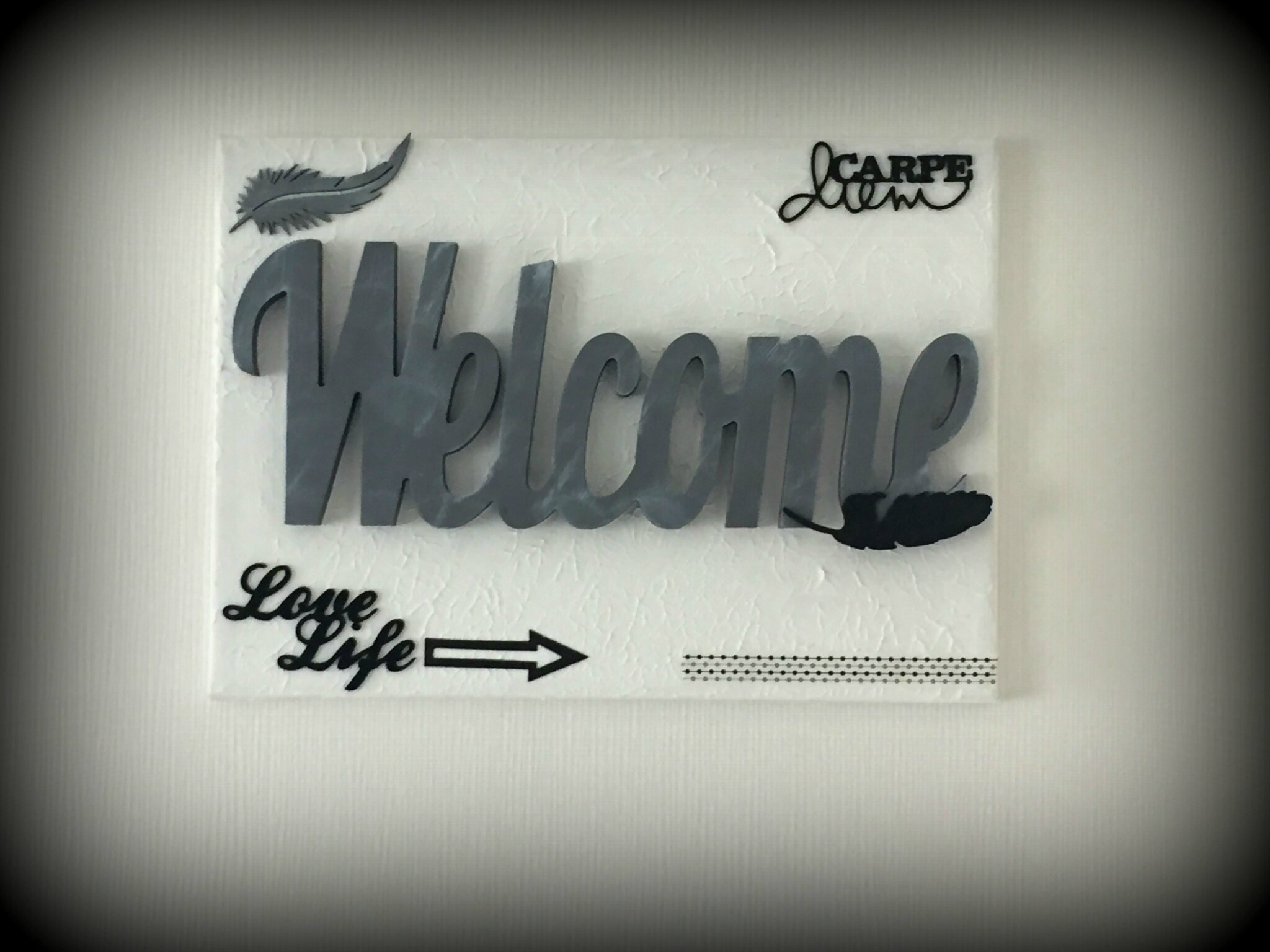 "canvas ""Welcome"" et sa carte"