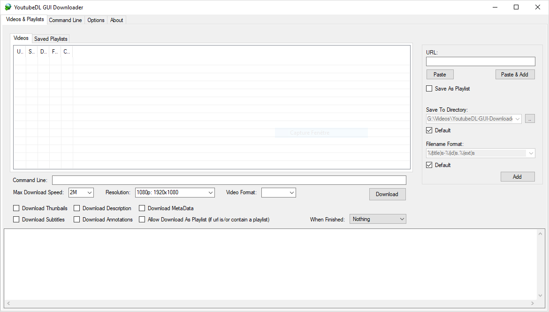 Youtube DL-GUI Downloader