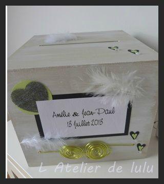 urne de mariage personnalisee