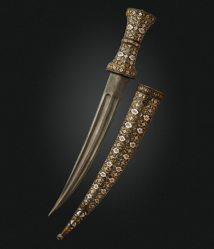2019_NYR_17464_0378_000(a_dagger_with_exceptionally_fine_silver_and_brass-inlaid_hilt_and_scab)