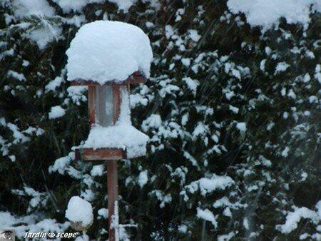 Mangeoire sous la neige