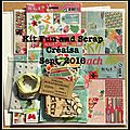 Kit fun and scrap créaisa sept. 2016