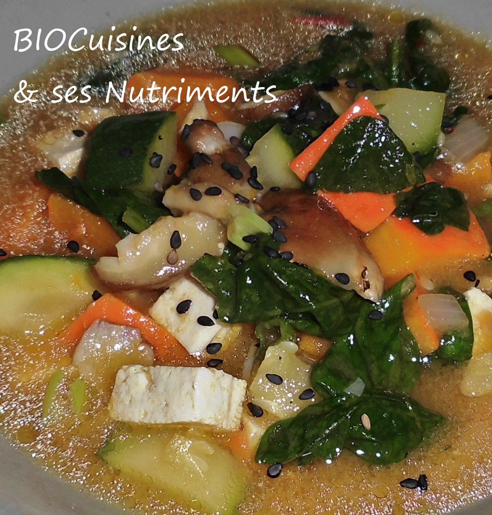 miso courge epinards