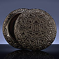 A rare ming carved black tixi lacquer circular box and cover, ming dynasty, 16th century