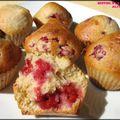 Muffins aux framboises (ou myrtilles)