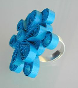 bague quilling turquoise 3