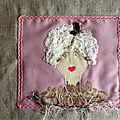 Livre textile pour Hélène.