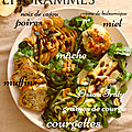 Muffins courgette & chèvre…. et salade
