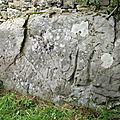 La dalle gravée de mescouez à le trehou (29).