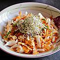 Salade croquante endives / carottes / amandes