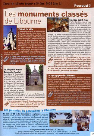 Libourne Avance n°20 Sept 2008