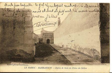 1063___LE_MAROC_MARRAKECH__Entr_e_du_palais_du_Sultan_Maille