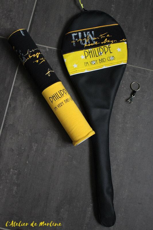 badminton housse de raquette et de boite de volants Philippe