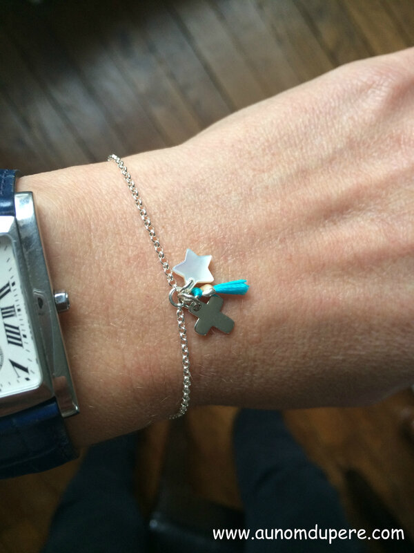 Bracelet Catho branché (turquoise) - 38 €