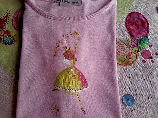 tee shirt rose fée